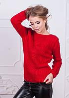 Женский теплый шерстяной свитер в разных цветах