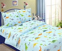 Комплект постельного белья 145х220см Динозаврики Бязь
