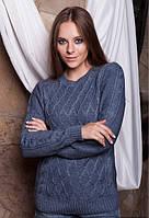 Женский теплый шерстяной свитер