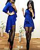 """Женское Платье """"Баска-хвост"""" (синий, бордо, красный, 42,44,46)"""
