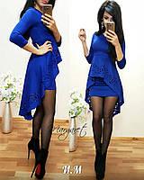 """Женское Платье """"Баска-хвост"""" (синий, бордо, красный, 42,44,46), фото 1"""