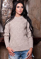 Женский теплый свитер с шерсти