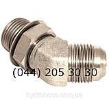 Регулируемый угловой фитинг 45°, JIC, 7633, фото 2