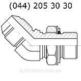 Регулируемый угловой фитинг 45°, JIC, 7633, фото 3