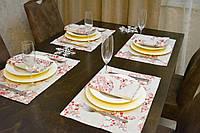 Подставки и салфетки (4 шт. + 4 шт.) для стола Новогодний Эстайт Набор текстильный для кухни №2