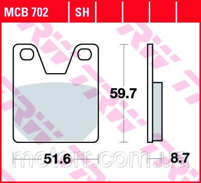 Тормозные колодки TRW / LUCAS MCB702