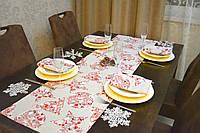 Раннер/дорожка и салфетки (1шт.+4 шт.) для стола Новогодний Эстайт Набор текстильный на кухню №3