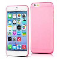 Силиконовый чехол (силиконовая накладка, бампер) Ultra-thin на IPhone 6 Plus Pink