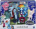 Эксклюзивный набор Рэйнбоу Дэш Минис Моя Маленькая Пони Май Литл Пони My Little Pony, фото 2
