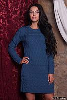 Шерстяное вязаное платья