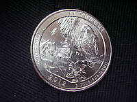 """25 центов 2012 США """"Эль-Юнке"""" (El Yunque) 11-й парк"""