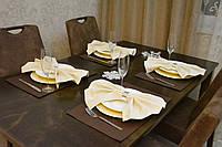 Подставки и салфетки (4 шт.+ 4 шт.) для стола Канзас коричневый Набор текстильный на стол №2
