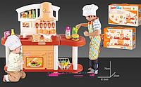 Детская большая кухня музыкальная игровой набор 6822-C оранжевая