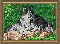 Набор для выкладки алмазной техникой «Волки»