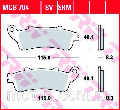 Тормозные колодки TRW / LUCAS MCB704SV