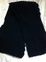 Женский шарф  из ангоровой шерсти  цвет чёрный