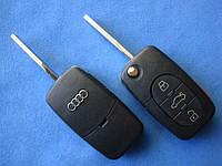 Audi - корпус выкидного ключа 3+1 кнопки (1616), фото 1