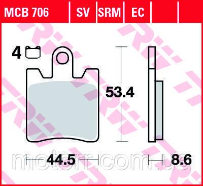 Тормозные колодки TRW / LUCAS MCB706