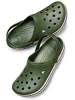 Кроксы мужские Crocs Forest Stucco Crocband Clog размер М12 45 Оригинал