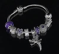 """Браслет Pandora """"фея"""" (фиолетовый)"""
