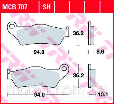 Тормозные колодки TRW / LUCAS MCB707