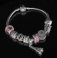 """Браслет Pandora """"Эйфелева башня"""" (розовый)"""