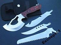 Туристический набор нож - пилка - топорик - тесак