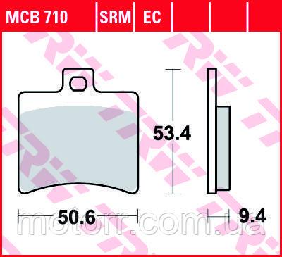 Тормозные колодки TRW / LUCAS MCB710