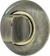 Ручка поворотная WC-BOLT BK6-1AB/SG-6 бронза/матовое золото