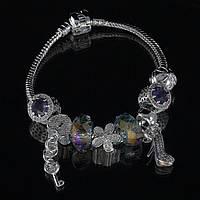"""Браслет Pandora """"туфелька"""" (фиолетовый)"""