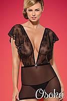 Сексуальная сорочка Obsessive Merossa chemise Черный