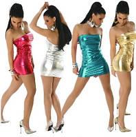 Сексуальное Женское платье 4 цвета, блестящее