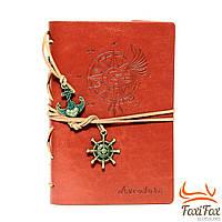 Красивый кожаный блокнот для записей Aventura