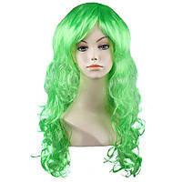 Парик карнавальный волнистый зелёный