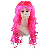 Парик карнавальный волнистый розовый