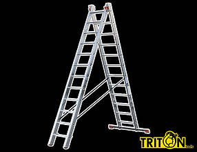 Лестница алюмин.2-х секционная TRITON-tools 2*12ступ. 02-130