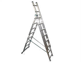 Лестница алюмин.3-х секционная TRITON-tools 3*6ступ. 02-140