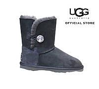 Короткие женские замшевые угги с кристалом Swarovski BaIley Bling Grey UGG® Australia