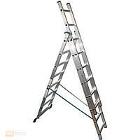 Лестница алюмин.3-х секционная TRITON-tools 3*7ступ. 02-150