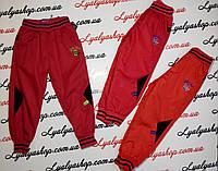 Штаны плащевка на флисе  для девочки р.98-128 лет, купить штаны для детей оптом