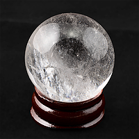 Горный хрусталь,статуэтка шар, Ø32 мм., 134ФГГ
