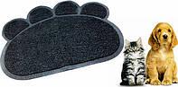 Коврик для животных paw print litter mat