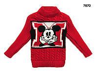 Вязаная кофта Mickey Mouse для мальчика. 2-3; 3-4; 4-5 лет