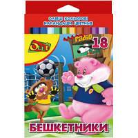 """Карандаши цветные 18 цветов OL-100-18 """"Бешкетники"""" Olli"""