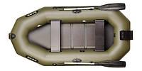 Лодка двухместная гребная, реечный настил, навесной транец, комплект Bark B-260N
