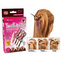 Заколки для волос twist n clip N1