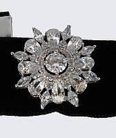 Чокер с ажурной брошью (серебро)