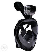 Дайвинг маска Tribord Easybreath Black для подводного плавания (сноркелинга) c креплением для камеры GoPro, фото 1