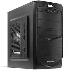 ►Корпус Crown СМС-401 Черный компьютерный блок питания 450 Вт разъемы USB 2.0 х 2 наушники микрофон