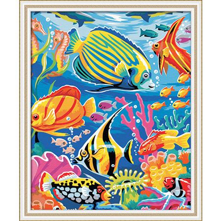 Раскраска по номерам Подводный мир